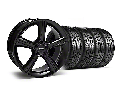 Staggered Black 2010 GT Premium Mustang Wheel & Pirelli Tire Kit - 19x8.5/10 (05-14)