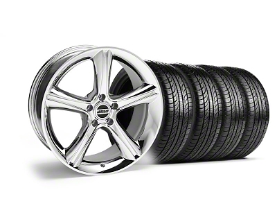 Staggered 2010 GT Premium Style Chrome Wheel & Pirelli Tire Kit - 19x8.5/10 (05-14)