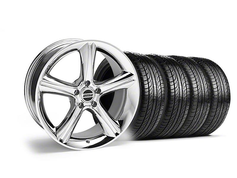Staggered 2010 GT Premium Chrome Wheel & Pirelli Tire Kit - 19x8.5/10 (05-14)