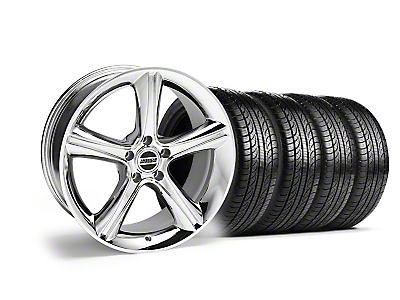 Staggered 2010 GT Premium Style Chrome Wheel & Pirelli Tire Kit - 19x8.5/10 (05-14 GT, V6)