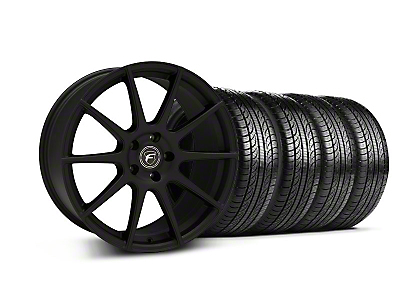Forgestar Staggered CF10 Monoblock Textured Black Wheel & Pirelli Tire Kit - 19x9/10 (05-14 All)