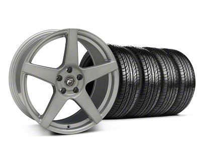 Forgestar Staggered CF5 Monoblock Silver Wheel & Pirelli Tire Kit - 19x9/10 (05-14 All)