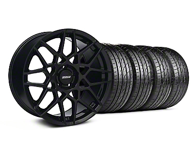 Staggered 2013 GT500 Gloss Black Wheel & Sumitomo Tire Kit - 19x8.5/10 (05-14 GT, V6)