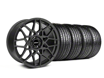 Staggered 2013 GT500 Style Charcoal Wheel & Sumitomo Tire Kit - 19x8.5/10 (05-14 GT, V6)