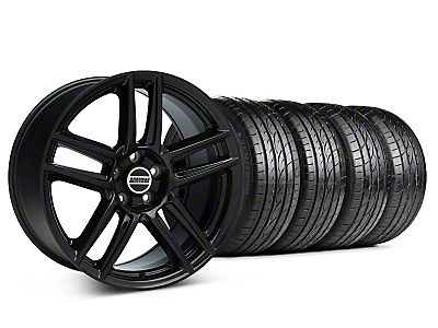 Staggered Boss Laguna Seca Black Wheel & Sumitomo Tire Kit - 19x9/10 (05-14 All)