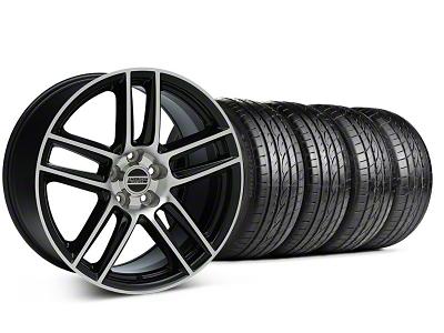 Staggered Laguna Seca Style Black Machined Wheel & Sumitomo Tire Kit - 19x9/10 (05-14 All)