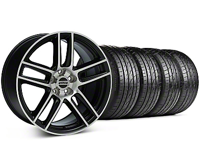 Staggered Boss Laguna Seca Black Machined Wheel & Sumitomo Tire Kit - 19x9/10 (05-14 All)