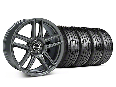 Staggered Boss Laguna Seca Charcoal Wheel & Sumitomo Tire Kit - 19x9/10 (05-14 All)