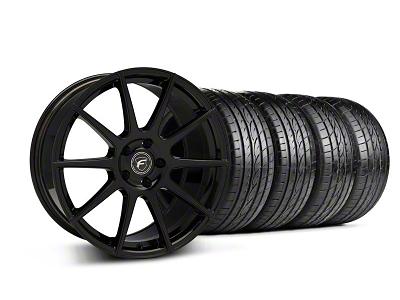 Forgestar Staggered CF10 Monoblock Piano Black Wheel & Sumitomo Tire Kit - 19x9/10 (05-14 All)