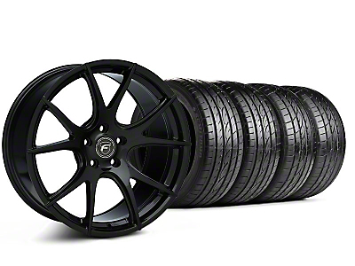 Staggered Forgestar CF5V Monoblock Piano Black Wheel & Sumitomo Tire Kit - 19x9/10 (05-14 All)