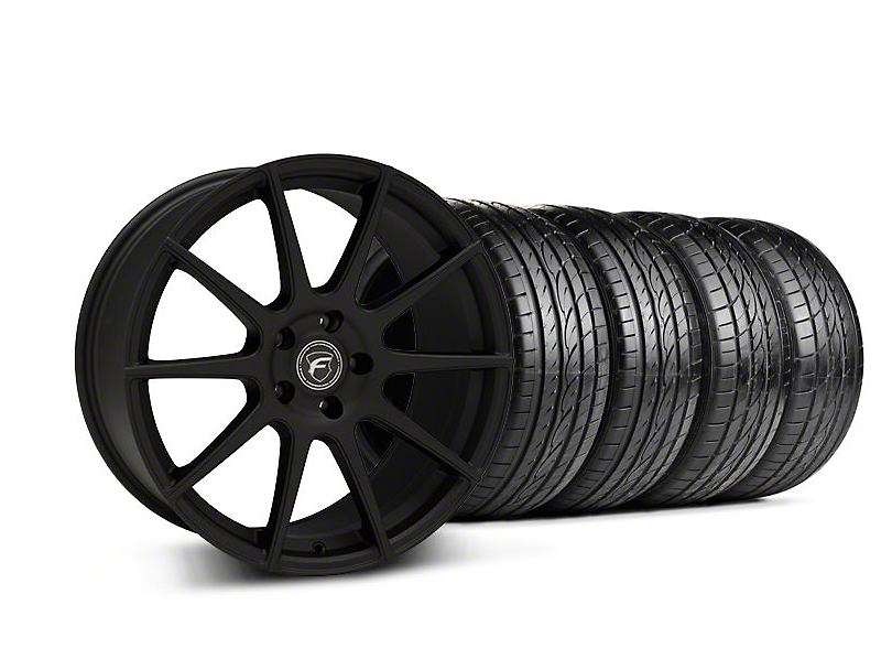 Staggered Forgestar CF10 Monoblock Textured Black Wheel & Sumitomo Tire Kit - 19x9/10 (05-14 All)