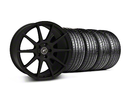 Staggered Textured Black Forgestar CF10 Monoblock Wheel & Sumitomo Tire Kit - 19x9/10 (05-14 All)