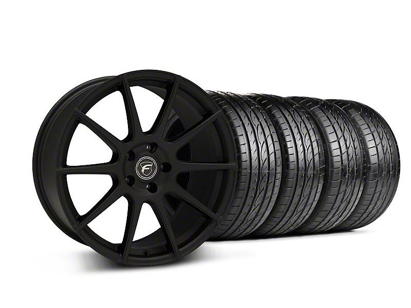 Forgestar Staggered CF10 Monoblock Textured Black Wheel & Sumitomo Tire Kit - 19x9/10 (05-14 All)