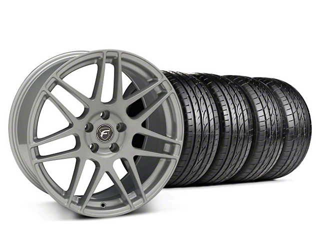 Forgestar Staggered F14 Monoblock Silver Wheel & Sumitomo Tire Kit - 19x9/10 (05-14 All)