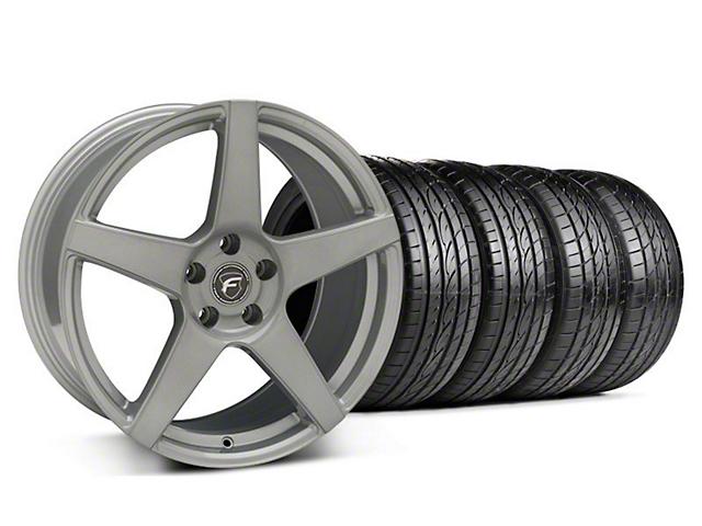 Forgestar Staggered CF5 Monoblock Silver Wheel & Sumitomo Tire Kit - 19x9/10 (05-14 All)