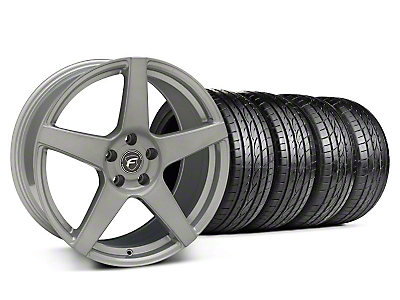 Staggered Forgestar CF5 Monoblock Silver Wheel & Sumitomo Tire Kit - 19x9/10 (05-14 All)