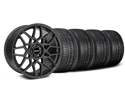 Staggered 2013 GT500 Charcoal Wheel & NITTO INVO Tire Kit - 19x8.5/10 (05-14 GT, V6)