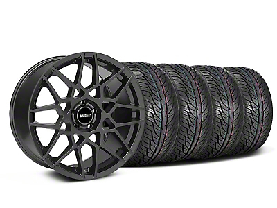 Staggered 2013 GT500 Charcoal Wheel & General Tire Kit - 19x8.5/10 (05-14 GT, V6)