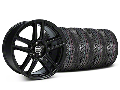 Staggered Boss Laguna Seca Black Wheel & General Tire Kit - 19x9/10 (05-14 All)