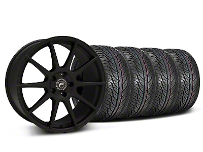 Forgestar Staggered CF10 Monoblock Textured Black Wheel & General Tire Kit - 19x9/10 (05-14 All)