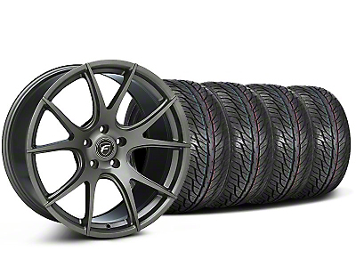 Forgestar Staggered CF5V Monoblock Gunmetal Wheel & General Tire Kit - 19x9/10 (05-14 All)