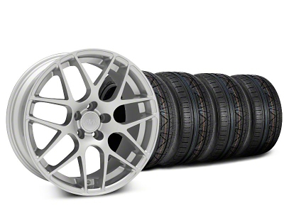 Staggered AMR Silver Wheel & NITTO INVO Tire Kit - 19x8.5/10 (05-14 All)