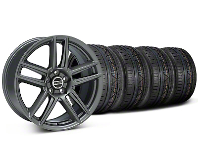 Staggered Boss Laguna Seca Charcoal Wheel & NITTO INVO Tire Kit - 19x9/10 (05-14 All)