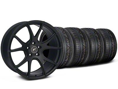 Forgestar Staggered CF5V Monoblock Matte Black Wheel & NITTO INVO Tire Kit - 19x9/10 (05-14 All)
