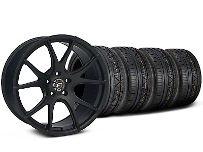 Forgestar Staggered CF5V Monoblock Matte Black Wheel & NITTO INVO Tire Kit - 19x9/10 (05-14 All)