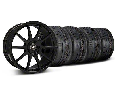 Forgestar Staggered CF10 Monoblock Piano Black Wheel & NITTO INVO Tire Kit - 19x9/10 (05-14 All)
