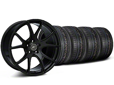 Staggered Piano Black Forgestar CF5V Monoblock Wheel & NITTO INVO Tire Kit - 19x9/10 (05-14 All)