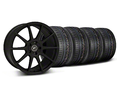 Staggered Textured Black Forgestar CF10 Monoblock Wheel & NITTO INVO Tire Kit - 19x9/10 (05-14 All)