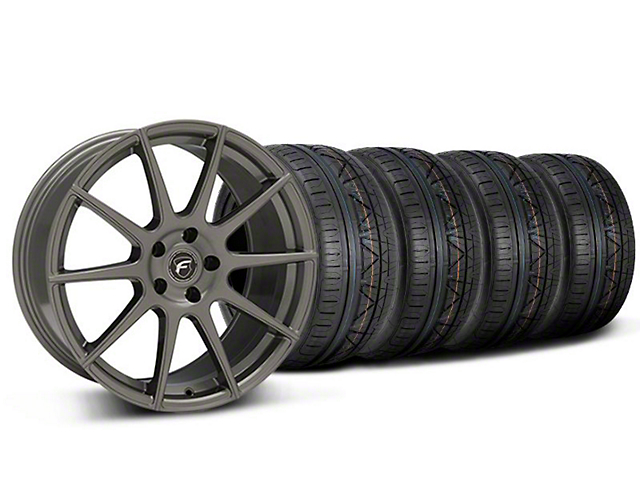 Staggered Forgestar CF10 Monoblock Gunmetal Wheel & NITTO INVO Tire Kit - 19x9/10 (05-14 All)