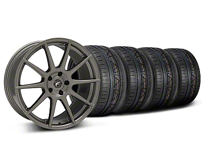 Forgestar Staggered CF10 Monoblock Gunmetal Wheel & NITTO INVO Tire Kit - 19x9/10 (05-14 All)