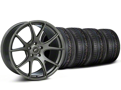 Forgestar Staggered CF5V Monoblock Gunmetal Wheel & NITTO INVO Tire Kit - 19x9/10 (05-14 All)