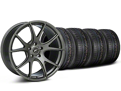 Staggered Gunmetal Forgestar CF5V Monoblock Wheel & NITTO INVO Tire Kit - 19x9/10 (05-14 All)