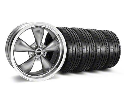 Staggered Deep Dish Bullitt Anthracite Wheel & Mickey Thompson Tire Kit - 20x8.5/10 (05-14 V6; 05-10 GT)