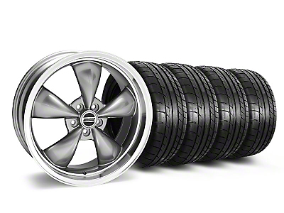 Staggered Deep Dish Bullitt Anthracite Wheel & Mickey Thompson Tire Kit - 20x8.5/10 (05-14 V6; 05-10 GT)