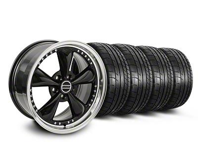 Staggered Bullitt Motorsport Black Wheel & Mickey Thompson Tire Kit - 20x8.5/10 (05-14 V6; 05-10 GT)