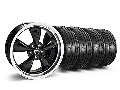 Staggered Deep Dish Bullitt Black Wheel & Mickey Thompson Tire Kit - 20x8.5/10 (05-14 GT, V6)