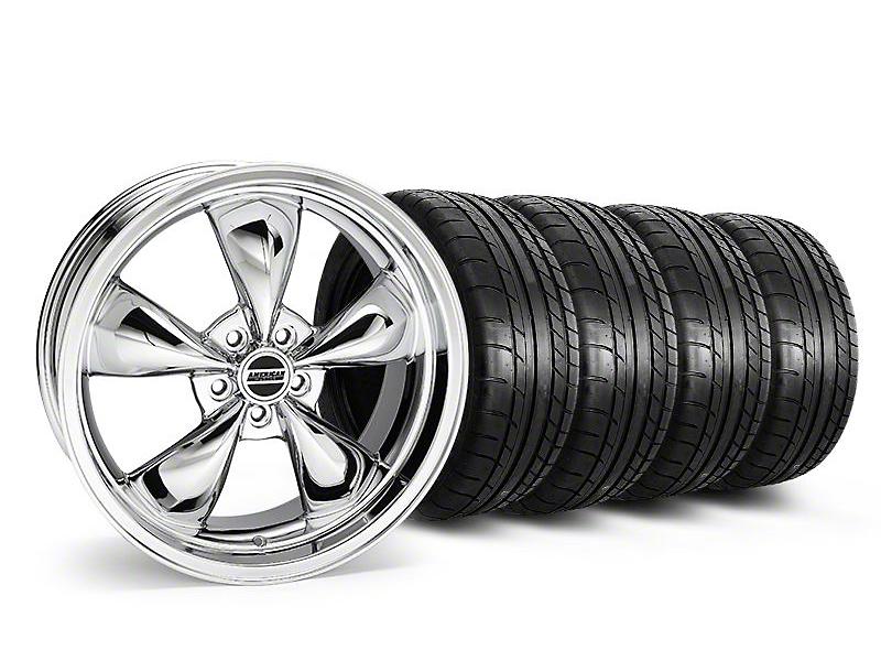Staggered Deep Dish Bullitt Chrome Wheel & Mickey Thompson Tire Kit - 20x8.5/10 (05-14 V6; 05-10 GT)
