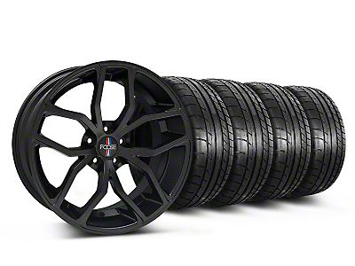 Foose Staggered Outcast Matte Black Wheel & Mickey Thompson Tire Kit - 20x8.5/10 (05-14 All)
