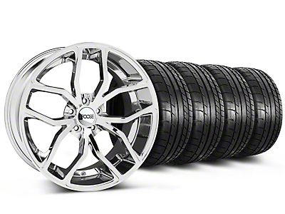 Staggered Chrome Foose Outcast Wheel & Mickey Thompson Tire Kit - 20x8.5/10 (05-14 All)