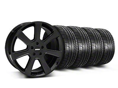 Staggered S197 Saleen Black Wheel & Mickey Thompson Tire Kit - 20x9/10 (05-14 All)