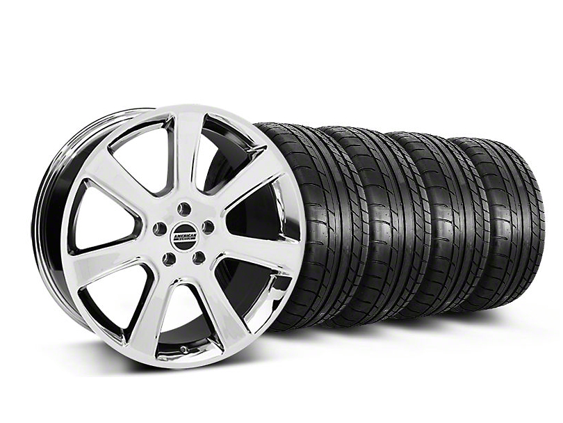 Staggered S197 Saleen Style Chrome Wheel & Mickey Thompson Tire Kit - 20x9/10 (05-14 All)