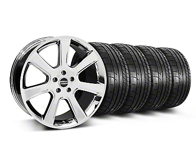 Staggered S197 Saleen Chrome Wheel & Mickey Thompson Tire Kit - 20x9/10 (05-14 All)