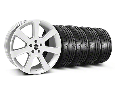 Staggered S197 Saleen Style Silver Wheel & Mickey Thompson Tire Kit - 20x9/10 (05-14 All)