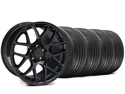 Staggered Black AMR Wheel & Sumitomo Tire Kit - 20x8.5/10 (05-14 All)