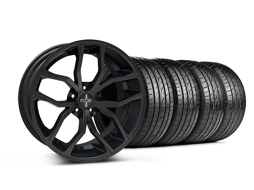 Foose Staggered Outcast Matte Black Wheel & Sumitomo Tire Kit - 20x8.5/10 (05-14 All)