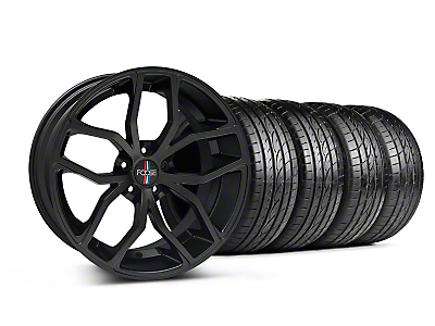 Staggered Matte Black Foose Outcast Wheel & Sumitomo Tire Kit - 20x8.5/10 (05-14 All)